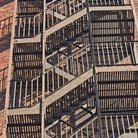 Picture - Fire escape on a brick building in Paterson, New Jersey.