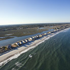Picture - An aerial view over Pawleys Island.