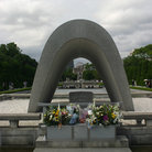 Picture - Monument at the Hiroshima Peace Park.