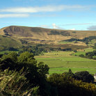 Picture - Gentle rolling hills of Peak District National Park.