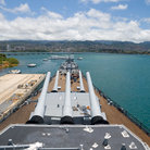 Picture - View from the top deck of the USS Missouri in Pearl Harbor.