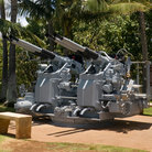 Picture - Restored anti-aircraft battery on display at Pearl Harbor, Hawaii.
