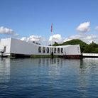 Picture - Battleship USS Arizona Memorial at Pearl Harbor.