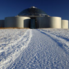 Picture - The Perlan Observatory in Reykjavik.