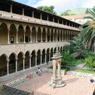 Picture - Courtyard of Pedralbes Abbey in Barcelona.