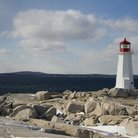 Picture - The lighthouse at Peggy's Cove.