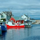 Picture - Fishing boats in Peggy's Cove.