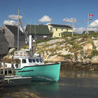 Picture - A fishing boat along the shores of Peggy's Cove.