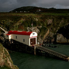 Picture - St Justinians lifeboat station in Pembrokeshire.