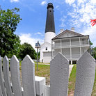 Picture - Wide view of the Pensacola Lighthouse and grounds.