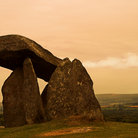 Picture - Old stone burrial chamber at Pentre Ifan.