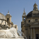 Picture - View of the Piazza del Popolo in Rome.