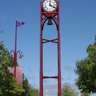 Picture - Waterfront clock in Petoskey, Michigan.