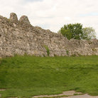 Picture - Stone wall of the Pevensey Castl.e.