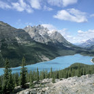 Picture - View over Peyto Lake in Banff National Park.