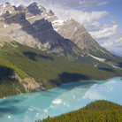 Picture - Peyto Lake and Bow Summit in Banff National Park.