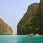 Picture - Maya Bay and a beach on Phi Phi Ley.