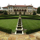 Picture - Dramatic grounds of the beautiful Philbrook Museum in Tulsa.