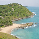 Picture - Aerial view of a deserted beach on Phuket.