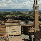 Picture - View over Piazza del Campo in Siena.