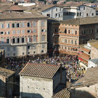 Picture - Piazza del Campo in Siena seen from above.