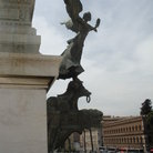 Picture - Bronze statue of a fairy at the Monument of Victor Emmanuel II in Rome.