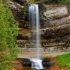 Picture - Munising Falls at Pictured Rocks National Lakeshore.
