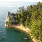 Picture - Looking down on Pictured Rocks National Lakeshore.
