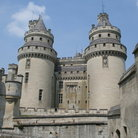 Picture - The twin towers of Chateau de Pierrefonds in Pierrefonds.