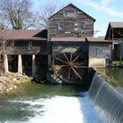 Picture - View of the dam at the Old Mill in Pigeon Forge.
