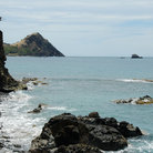 Picture - View along the shoreline of Pigeon Island.