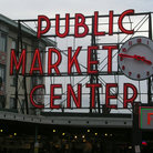 Picture - Sign at Pike Place Market in Seattle.