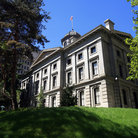 Picture - Pioneer Courthouse in Portland, Oregon.