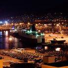 Picture - Night view of the Port of Piraeus.