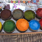 Picture - Dyes at the market in Pisac.