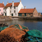 Picture - Fishing nets on the waterfront at Pittenweem.