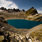 Picture - A beautiful lake in the Pizol mountain group.