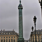 Picture - Place Vendome in Paris, on a rainy day.