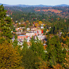Picture - View over Placerville in the fall.