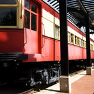 Picture - An old restored railway car in downtown Plano.