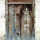 Picture - Old wooden door in Platanistasa.