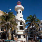 Picture - The lighthouse on the beach in Playa del Carmen.
