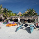 Picture - Boats for rent on the beach in Playa del Carmen.