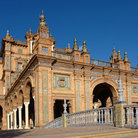 Picture - Bridge to Plaza de Espana in Seville.