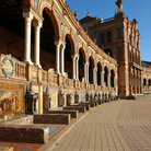 Picture - Curve of the Plaza de Espana in Seville.
