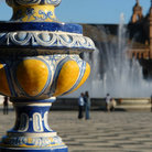 Picture - Fountain in the Plaza de Espana in Seville.