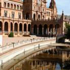 Picture - Bridge over water in Plaza de Espana, Seville.