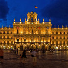 Picture - Evening view of the beautiful Plaza Mayor in Salamanca.