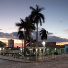 Picture - Evening view over the Plaza Mayor in Trinidad.