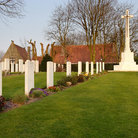 Picture - Gravestones at the First World War Commonwealth Cemetery in Ypres.